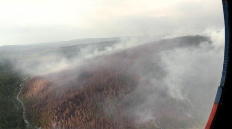 Płoną lasy Syberii /RU-RTR Russian Television/Associated Press /East News