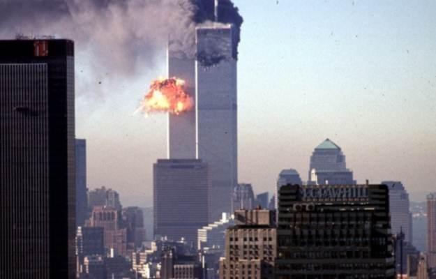 Płonąca wieża WTC, Nowy Jork, 2001 r. /AFP