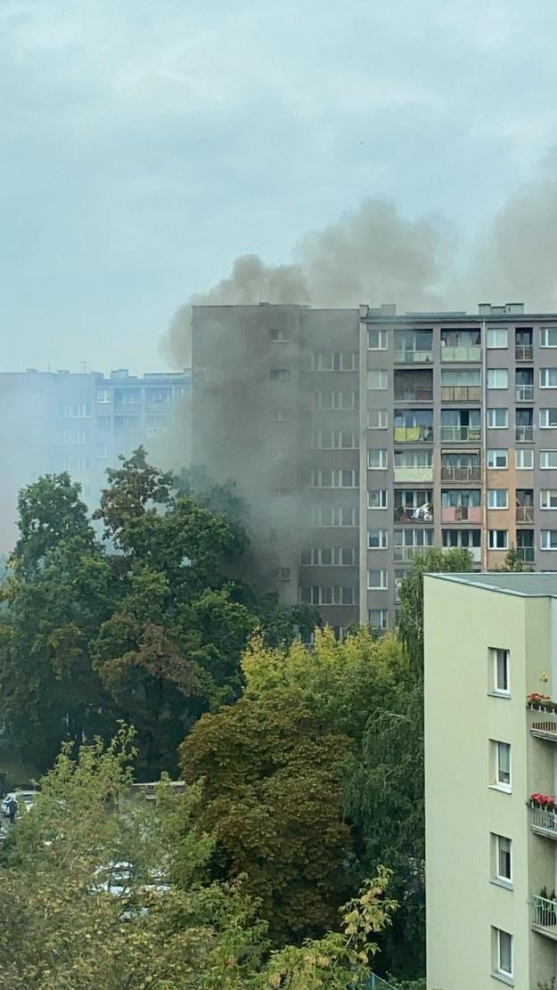 Płonące mieszkanie na Fabrycznej /Gorąca Linia RMF FM