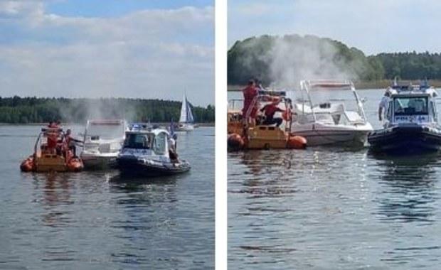 Płonący silnik, urazy żeglarzy. Interwencje ratowników na mazurskich jeziorach