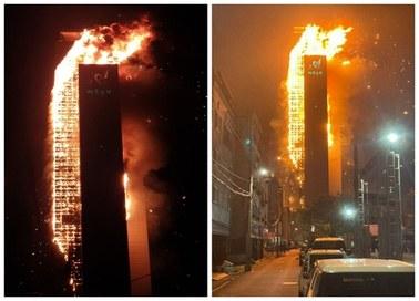 Płonący wieżowiec. Przerażające zdjęcia z Korei Południowej