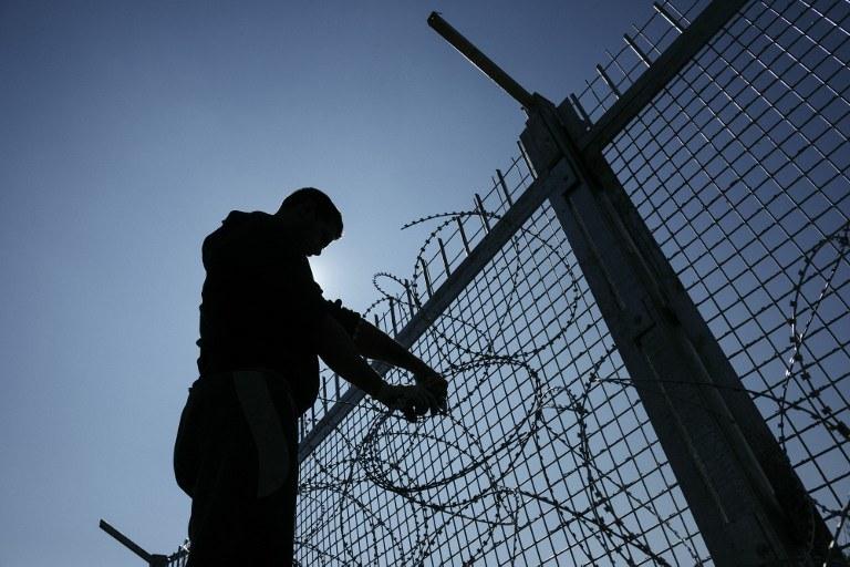 Płot na bułgarsko-tureckiej granicy /DIMITAR DILKOFF / AFP /AFP
