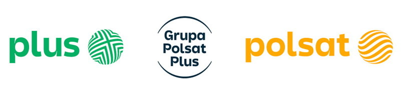Plus i Polsat - nowe logo /materiały prasowe