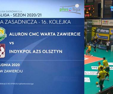PlusLiga. Aluron CMC Warta Zawiercie – Indykpol AZS Olsztyn 3-0. Skrót meczu (POLSAT SPORT). wideo