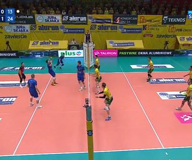 PlusLiga: Aluron CMC Warta Zawiercie – VERVA Warszawa ORLEN Paliwa 0:3. Skrót meczu (POLSAT SPORT). Wideo