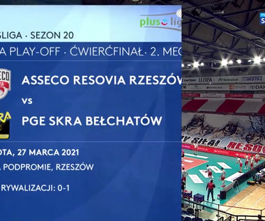 PlusLiga. Asseco Resovia – PGE Skra Bełchatów 0:3. Skrót meczu (POLSAT SPORT). Wideo
