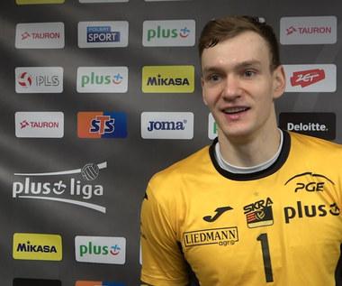 PlusLiga. Bartosz Filipiak (PGE Skra) po meczu z Asseco Resovią. Wideo