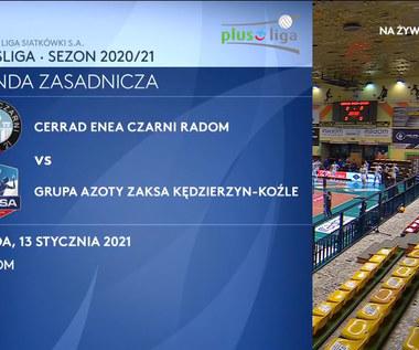 PlusLiga. Cerrad Enea Czarni Radom - Grupa Azoty ZAKSA Kędzierzyn-Koźle 0-3. skrót meczu (POLSAT SPORT). Wideo