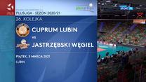 PlusLiga. Cuprum Lubin – Jastrzębski Węgiel 0:3. Skrót meczu (POLSAT SPORT). Wideo