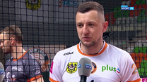 PlusLiga. Dawid Gunia (Cuprum Lublin): Nasza zagrywka nie przynosiła efektów (POLSAT SPORT). Wideo