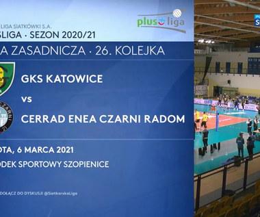 PlusLiga. GKS Katowice – Cerrad Enea Czarni Radom 2:3. Skrót meczu (POLSAT SPORT). Wideo