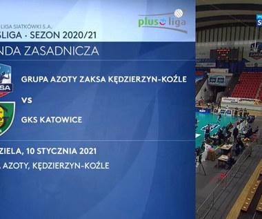 PlusLiga. Grupa Azoty ZAKSA Kędzierzyn-Koźle - GKS Katowice 3-0. Skrót meczu (POLSAT SPORT). Wideo