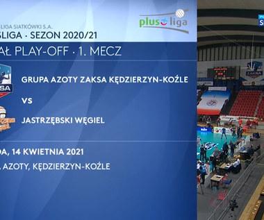 PlusLiga. Grupa Azoty ZAKSA Kędzierzyn-Koźle - Jastrzębski Węgiel 1:3. Skrót meczu (POLSAT SPORT). Wideo