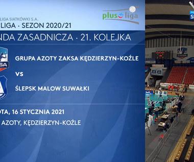 PlusLiga. Grupa Azoty ZAKSA Kędzierzyn-Koźle – MKS Ślepsk Malow Suwałki 3:1 - skrót (POLSAT SPORT). WIDEO