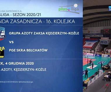 PlusLiga. Grupa Azoty ZAKSA Kędzierzyn Koźle – PGE Skra Bełchatów 3-2. Skrót meczu (POLSAT SPORT). wideo