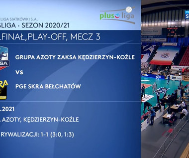 PlusLiga. Grupa Azoty ZAKSA Kędzierzyn-Koźle - PGE Skra Bełchatów 3:0. Skrót meczu (POLSAT SPORT). Wideo