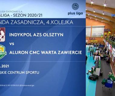 PlusLiga. Indykpol AZS Olsztyn - Aluron CMC Warta Zawiercie. Skrót meczu. WIDEO (Polsat Sport)
