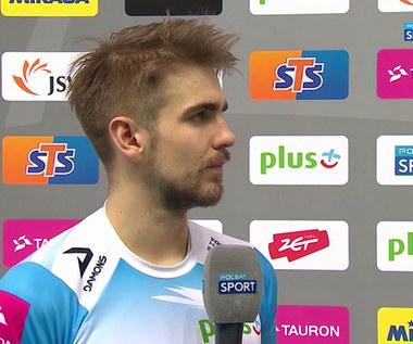 PlusLiga. Jakub Popiwczak: Nie poszliśmy drogą ZAKSY, więc mamy więcej czasu na odpoczynek! (POLSAT SPORT). Wideo