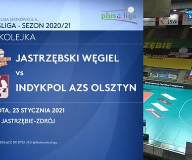 PlusLiga. Jastrzębski Węgiel – Indykpol AZS Olsztyn 3:2 - skrót meczu (ZDJĘCIA POLSAT SPORT). Wideo