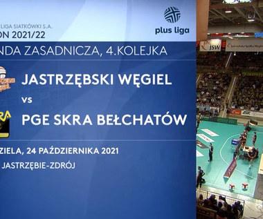 PlusLiga. Jastrzębski Węgiel - PGE Skra Bełchatów. Skrót meczu. WIDEO (Polsat Sport)