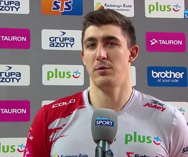 Plusliga. Łukasz Kaczmarek (ZAKSA): Możemy cieszyć się ze zwycięstwa po dłuższej przerwie (POLSAT SPORT). Wideo