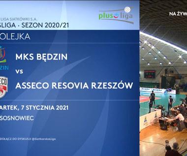 PlusLiga. MKS Będzin - Asseco Resovia 1:3. Skrót meczu (POLSAT SPORT). Wideo
