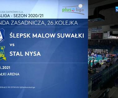 PlusLiga. MKS Ślepsk Malow Suwałki – Stal Nysa 3:1. Skrót meczu (POLSAT SPORT). Wideo