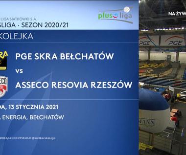 PlusLiga. PGE Skra Bełchatów – Asseco Resovia 2-3. Skrót meczu (POLSAT SPORT). Wideo