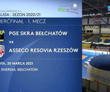 PlusLiga. PGE Skra Bełchatów - Asseco Resovia Rzeszów 3:1. Skrót (POLSAT SPORT). Wideo