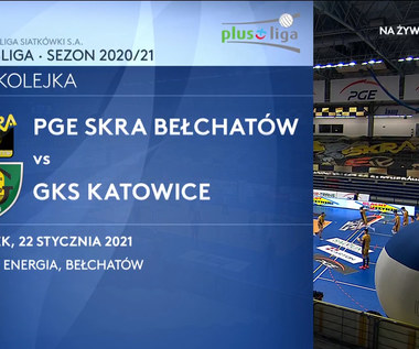 PlusLiga. PGE Skra Bełchatów - GKS Katowice 3-1. Skrót meczu (POLSAT SPORT). Wideo