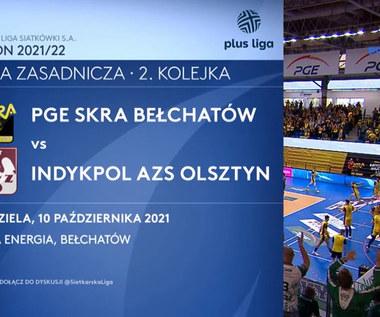 PlusLiga. PGE Skra Bełchatów - Indykpol AZS Olsztyn. Skrót meczu. WIDEO (Polsat Sport)