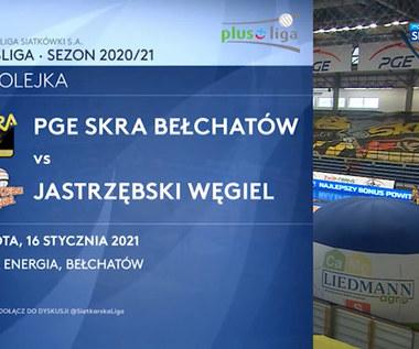 PlusLiga. PGE Skra Bełchatów – Jastrzębski Węgiel 0:3 0 skrót (POLSAT SPORT). WIDEO