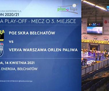 PlusLiga. PGE Skra Bełchatów – Verva Warszawa Orlen Paliwa 2:3. Skrót meczu (POLSAT SPORT). Wideo