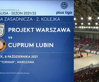 PlusLiga. Projekt Warszawa - Cuprum Lubin. Skrót meczu (POLSAT SPORT). Wideo