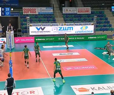PlusLiga: Ślepsk Malow Suwałki - Aluron CMC Warta Zawiercie 3:1. Skrót meczu. Wideo
