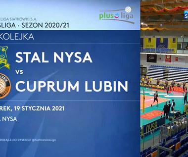 PlusLiga. Stal Nysa – Cuprum Lubin 1:3. Skrót meczu (POLSAT SPORT). Wideo