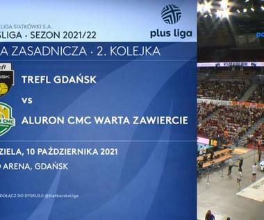 PlusLiga. Trefl Gdańsk - Aluron CMC Warta Zawiercie 1-3. Skrót meczu (POLSAT SPORT). Wideo