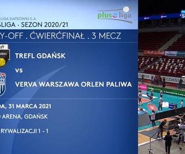 PlusLiga. Trefl Gdańsk – Verva Warszawa Orlen Paliwa 0:3. Skrót meczu (POLSAT SPORT). Wideo
