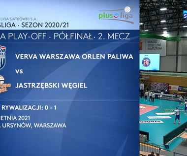 PlusLiga. Verva Warszawa Orlen Paliwa – Jastrzębski Węgiel 1:3. Skrót meczu (POLSAT SPORT). Wideo