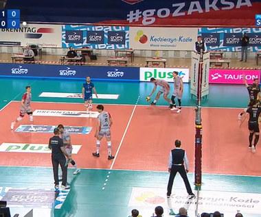 PLusLiga. ZAKSA Kędzierzyn-Koźle - PGE Skra Bełchatów 3:0.Skrót meczu. Wideo