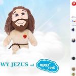 Pluszowy Jezus pod choinkę