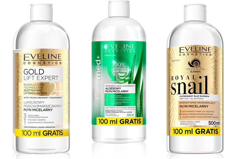 Płyny micelarne Eveline Cosmetics /materiały prasowe