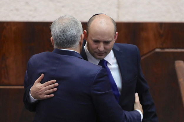 Po 12 latach rządów Netanjahu Kneset zatwierdził rząd pod nowym przywództwem. /ABIR SULTAN /PAP/EPA