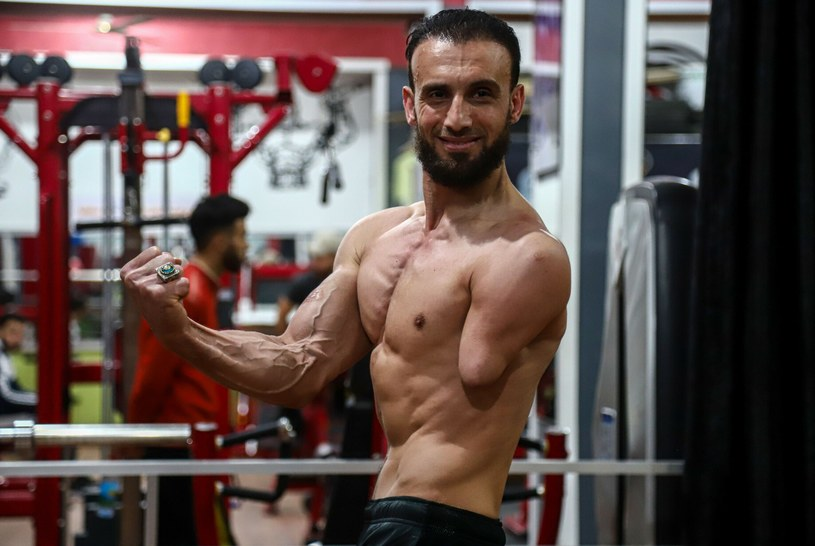 Po 13 latach od wypadku Nidal otwarł własną siłownię w Strefie Gazy /Rex Features /East News