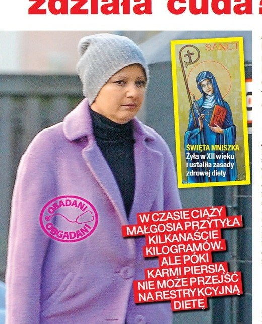 Po ciąży Małgorzata Kożuchowska odżywia się zgodnie z zaleceniami św. Hildegardy z Bingen /Na żywo