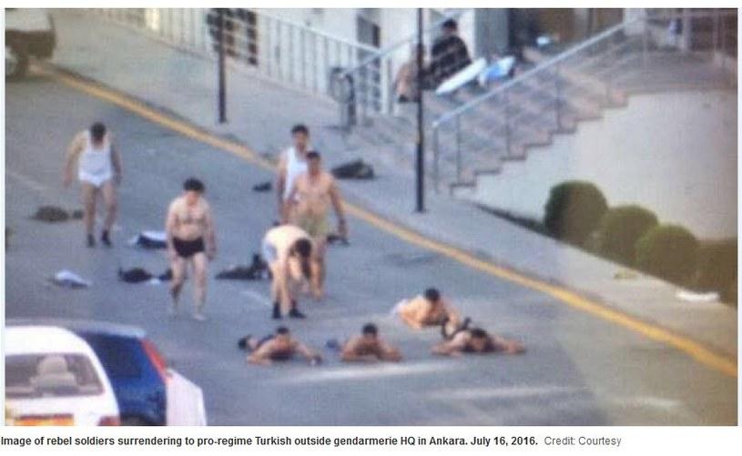 Po informacji o zatrzymaniu puczystów na portalu Haaretz ukazało się sugestywne zdjęcie /