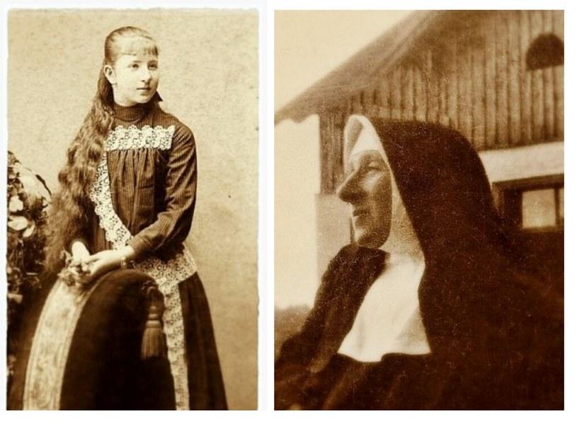 Po lewej 15-letnia hrabianka Róża Czacka, po prawej już jako matka Elżbieta /Archiwum Towarzystwa Opieki nad Ociemniałymi w Laskach /materiały prasowe