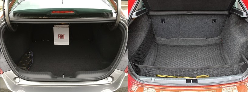 Po lewej bagażnik Fiata Tipo, po prawej Skody Rapid /INTERIA.PL