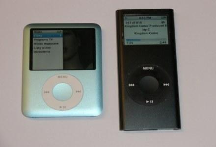 Po lewej iPod nano trzeciej generacji. Po prawej wcześniejszy model. /INTERIA.PL