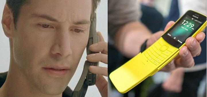"""Po lewej kadr z filmu """"Matrix"""" i kultowa Nokia /materiały prasowe"""
